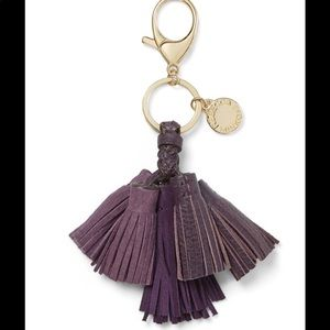 Rebecca Minkoff || Purple leather Tassel Key Fob